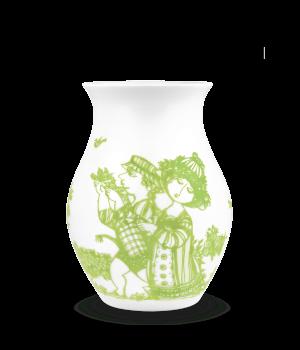 Bjørn Wiinblad Rosegarden Vase - Grøn Højde 18 Cm.