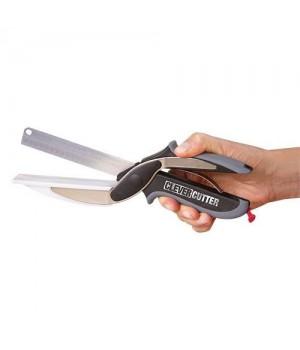 Clever Cutter 2 I 1 Kniv Og Skærebræt I Et.-5710948315696