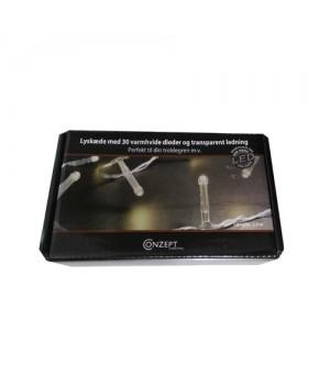 Conzept Lyskæde transparent med 30 varm hvide dioder 5705724013682