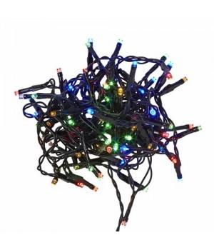 Conzept Multicolor Lyskæde Med 40 LED - Indendørs Og Udendørs.