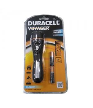 Duracell Lommelygte Voyager mini i sort plast  0884620006556