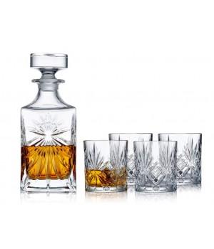 Lyngby Glas - Krystal Melodia Whiskysæt - 5 Dele