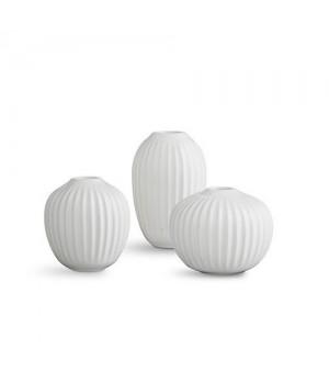 Kähler Hammershøi Vase Miniature 3-Pak Hvid.