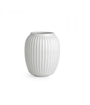 Kähler Hammershøi Vase - Hvid Mellem Højde: 20 Cm.