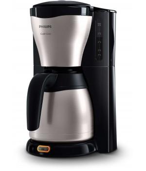 Philips Kaffemaskine i sort/børstet stål med Termokande