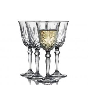 Lyngby Glas - Krystal Melodia Hvidvinsglas 21 Cl. - 4 Stk.