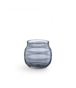 Kähler Omaggio Glas Fyrfadsstage - Stålblå Højde: 7,5 Cm.