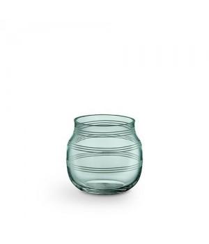 Kähler Omaggio Glas Fyrfadsstage - Grøn Højde: 7,5 Cm.
