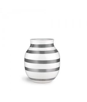 Kähler Omaggio Vase Sølv Mellem - 20 Cm.