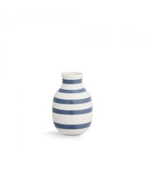 Kähler Omaggio Vase Stålblå - Lille Højde: 12,5 Cm.