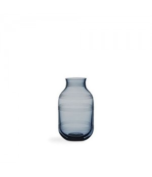 Kähler Omaggio Glas Vase - Stålblå Mini Højde: 14 Cm.