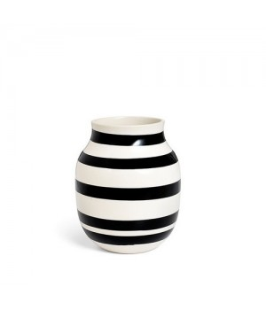 Kähler Omaggio Vase - Sort Medium