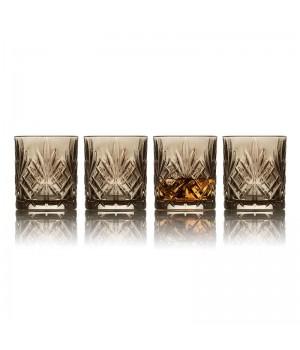 Lyngby Glas Melodia - 4 Stk. Whiskyglas 30 Cl. - Smoke