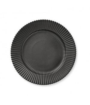 5711844102274-Lyngby Middags Tallerken - Mat Sort Porcelæn - Diameter: 27 Centimeter