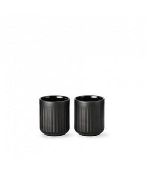 5711844102304-Lyngby Termokrus - 30 Centiliter - Sort Porcelæn - Sæt Med 2 Stykker
