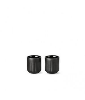 5711844102106-Lyngby Termokrus - 8 Centiliter - Sort porcelæn - Sæt Med 2 Stykker