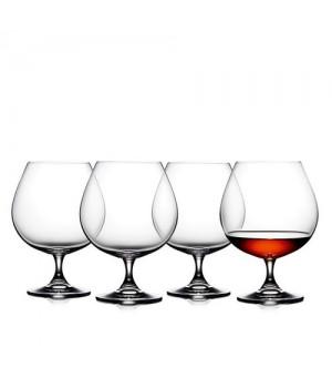 Lyngby Glas Juvel Cognac 4 Stk. 67 Cl.