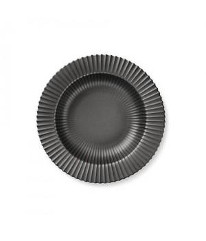 5711844102236-Lyngby Dyb tallerken - 23 Centimeter Mat Sort Porcelæn.