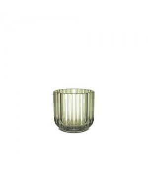 Lyngby Stagen 6,5 Cm. - Lysegrøn Glas.