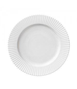 Lyngby Tallerken 27 Cm. - Hvid Porcelæn.