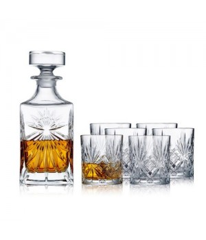Lyngby Glas Whiskysæt Melodia 7 Dele