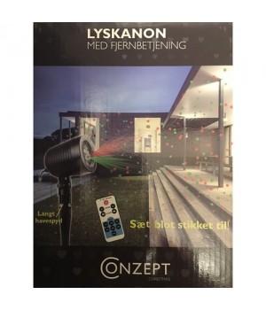 Conzept Lyskanon Med Fjernbetjening.