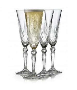 Lyngby Glas Melodia Champagneglas 16 Cl. - 4 Stk.