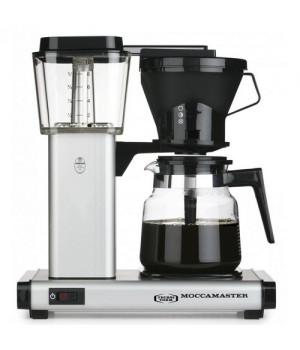 Moccamaster HB951AO.MS mat silver filterkaffemaskine repræsenterer den velkendte Moccamaster kvalitet, stil og brugervenlighed.