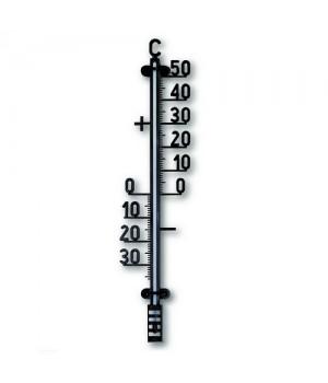 Rosenborg Udendørs Facadetermometer Sort Plast.-5708626100450