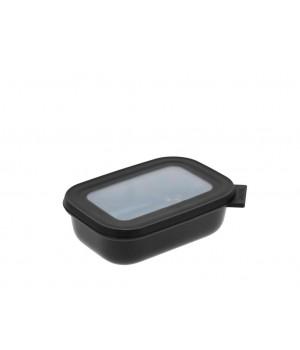Mepal - Cirqula Rektangulær skål m/låg 500 ml - Black