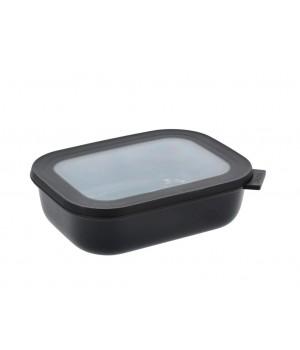 Mepal - Cirqula Rektangulær skål m/låg 1000 ml - Black