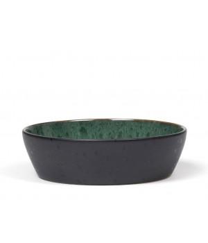 BITZ - Suppeskål Dia. 18 x 5 cm - sort/grøn
