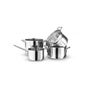 Eva Trio Grydesæt Stainless Steel 1,8/3,6/4,8 + Pasta indsat