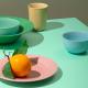 Lyngby - Rhombe Color Dyb Tallerken Ø24,5 Cm - Grøn