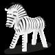 Kay Bojesen Zebra Sort Og Hvid 14 cm.